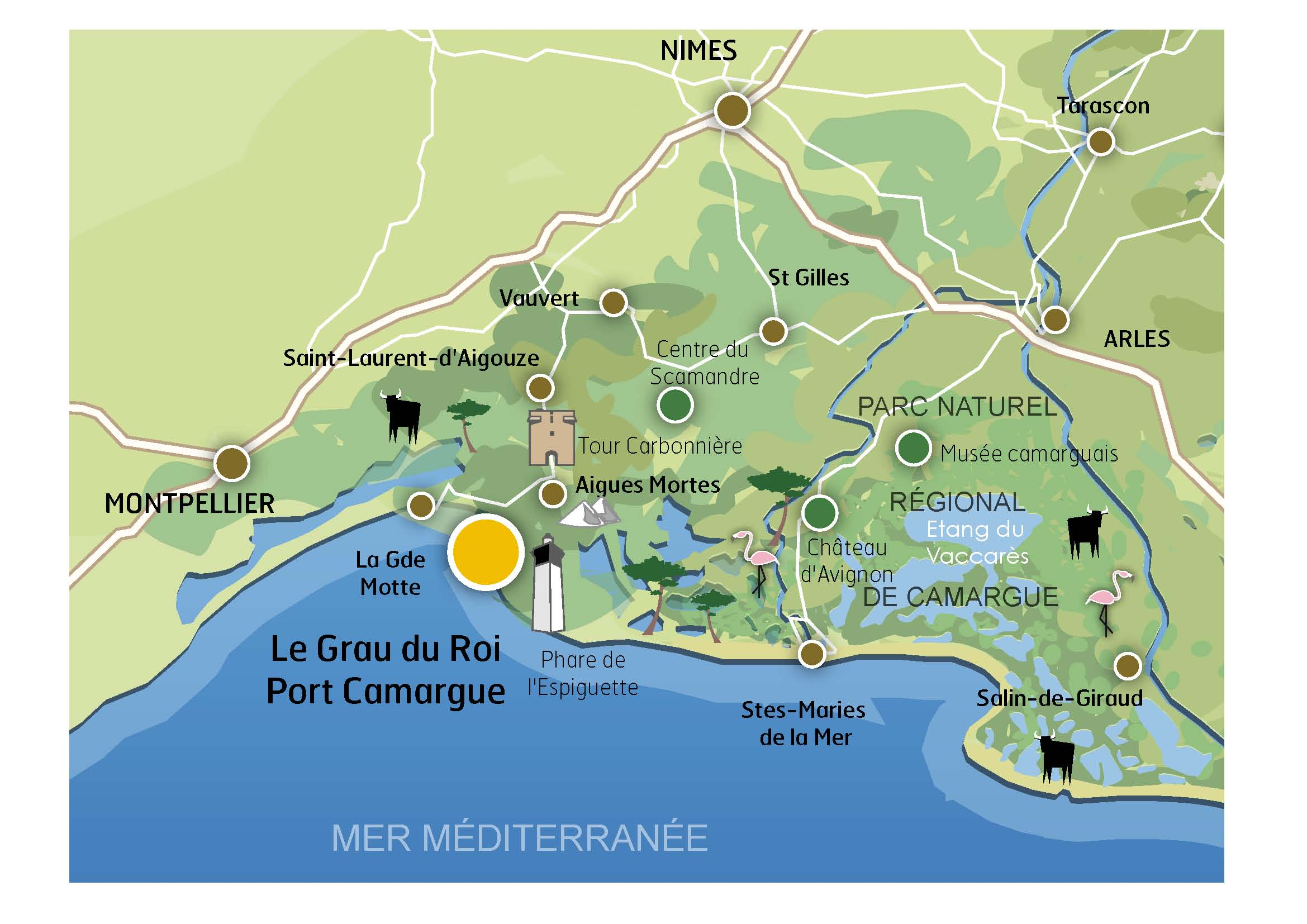 Carte port camargue
